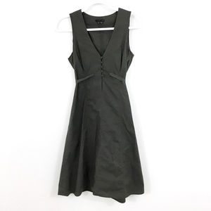 THEORY SLEEVELESS TIE BACK DRESS